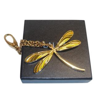 Lalique Gold Tone Butterfly Key Charm