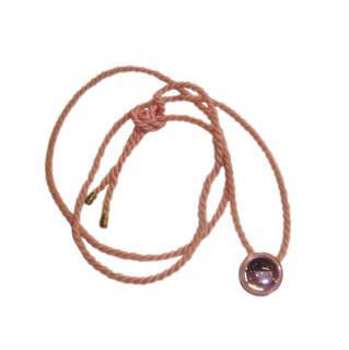 Lalique Pink Cabochon Crystal Pendant Necklace