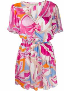 Pucci pink printed silk dress