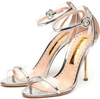 Rupert Sanderson Claire De Lune Silver Mirror Sandals