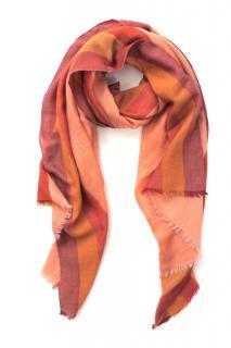 Loro Piana striped cashmere and silk blend scarf 78x28 inches