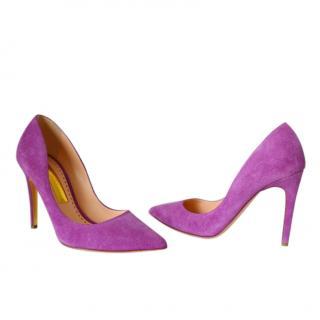 Rupert Sanderson purple suede Pumps