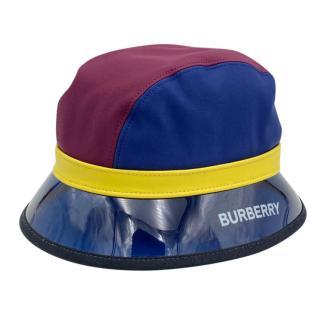 Burberry Colourblock Suede & PVC Bucket Hat