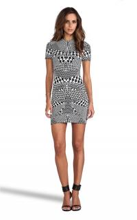 McQ by Alexander McQueen Optical Houndstooth Mini Dress