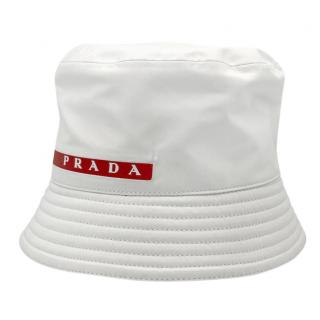 Prada Sport White Bucket Hat