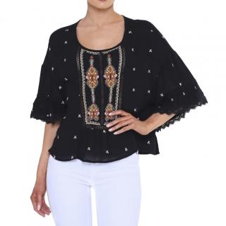 Velvet by Graham & Spencer embroidered alasdair top
