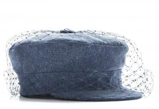 Dior Arty Parisian Veiled Denim Cap