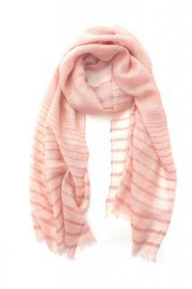Loro Piana Pink Cashmere & Silk Blend Metallic Knit Scarf