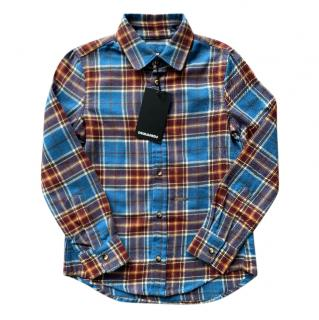 Dsquared2 Blue Checked Flannel Shirt