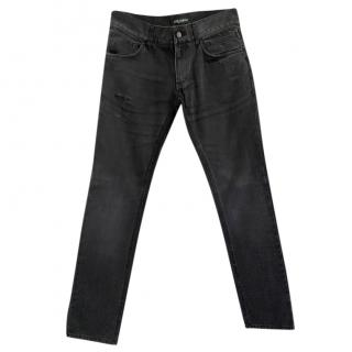 Dolce & Gabbana men's black denim jeans