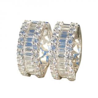 Bespoke VS1 and E colour baguette diamond 5.18ct earrings