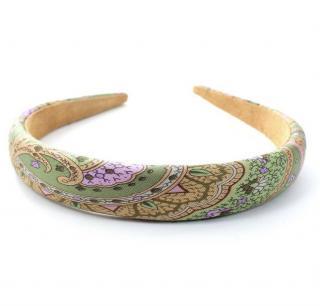 Etro Green Paisley Print Hairband