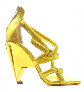 Jimmy Choo Metallic Rope Style Cone Heel Sandals
