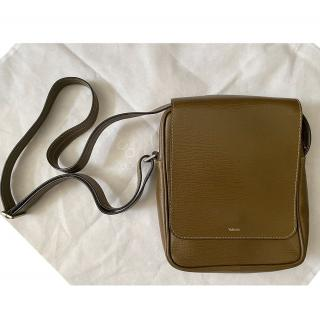 Valextra Brown Leather Messenger Bag