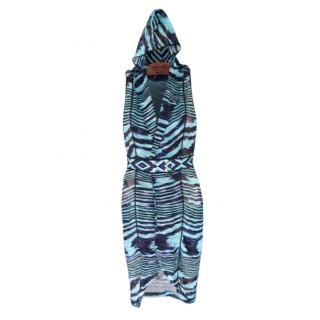 Missoni Mare Blue Portland Hooded Crochet Dress