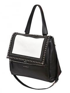 Givenchy Black & White Studded Pandora Pure Tote Bag