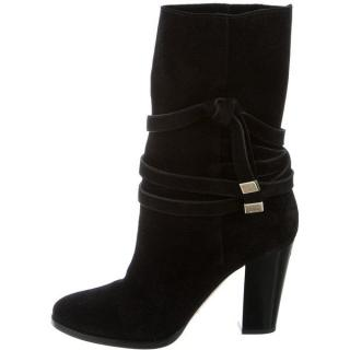Jimmy Choo Black Suede Mercy Boots