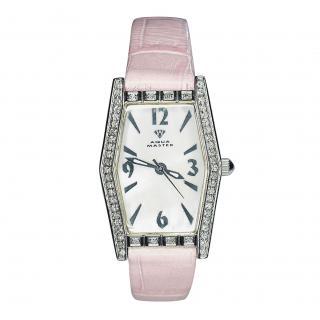 Aqua Master 21mm Sam 95 Diamond Bezel Watch with Pink Strap