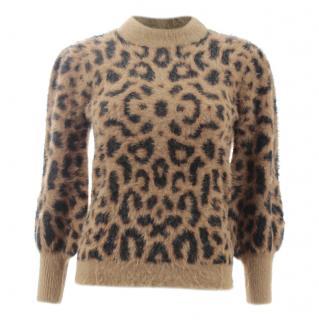 Manoush Wool Blend Brushed Leopard Jane Knit Jumper