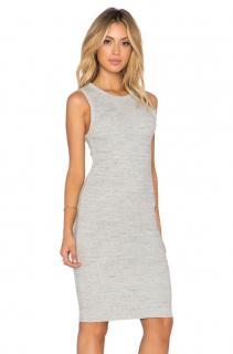 James Perse Grey Ribbed Knit Sleeveless Vest