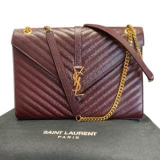Saint Laurent Large Grain De Poudre Envelope Shoulder Bag