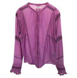 Isabel Marant Lilac Sheer Blouse