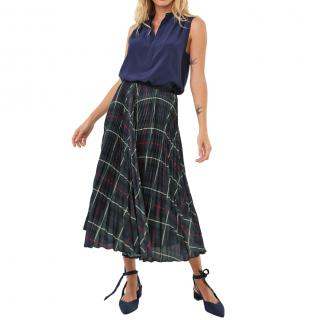 Polo Ralph Lauren Blue Silk Sleeveless Blouse