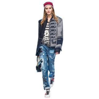 Dolce & Gabbana Patchwork Applique Jeans