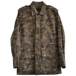 Saint Laurent Camouflage Print Jacket