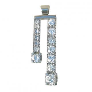 Bespoke 18ct White Gold Diamond Pendant