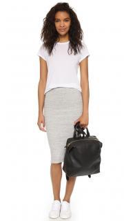 James Perse Grey Ribbed Skirt
