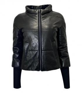 A.L.C Black Lambskin Puffer Jacket
