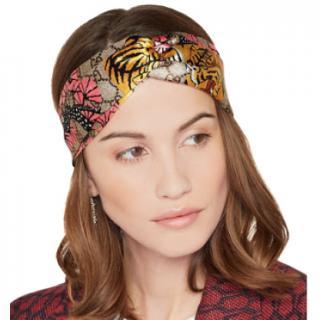 Gucci Supreme Tiger Print Knotted Headband