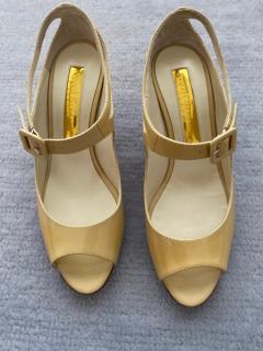 Jimmy Choo Gianna Embellished Glittered Velvet Point-Toe Flats shoes sz37