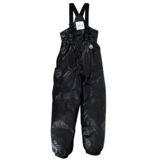 Moncler Kids Black Nylon Down Ski Trousers