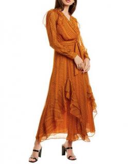 Diane von Furstenberg Mercy Striped Silk Georgette Dress
