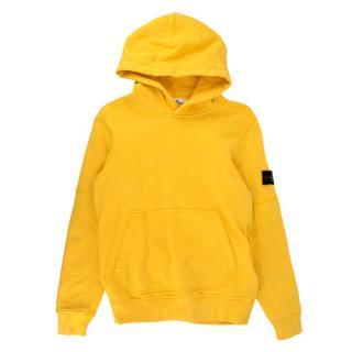 Stone Island Junior 12Y Yellow Hoodie