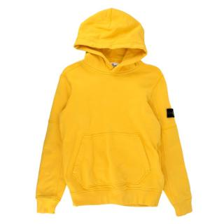 Stone Island Junior 12Y Yellow Hoodie