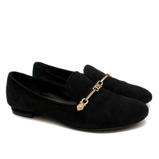 Louis Vuitton Black Suede Loafers