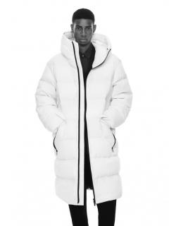 Jil Sander for Uniqlo J+ White Down Hooded Coat