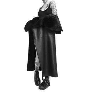 Lakoues Leather & Shearling Reversible Coat