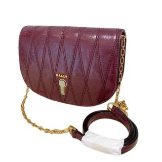 Bally Small Burgundy Clayn Crossbody Bag