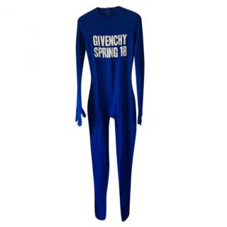 Givenchy Spring 2018 Blue Full Body Jumpsuit