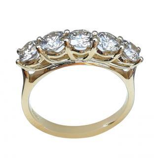 Bespoke 18ct Yellow Gold Brown Diamond Ring