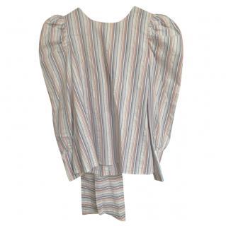 Claudie Pierlot Striped Puff Sleeve Top