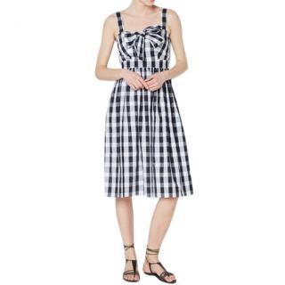 Claudie Pierlot Gingham Bow Detail Sun Dress