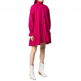 Philosophy Di Lorenzo Serafini Pink Long Sleeve Ruffle Dress