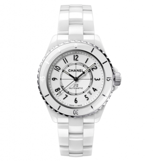 Chanel White Ceramic J12 38MM Watch
