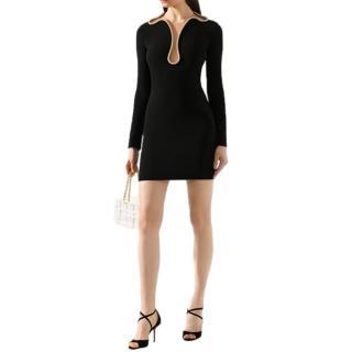 Stella McCartney Snake Chain Mesh Panelled Mini Dress