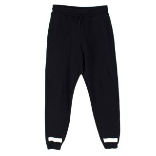 Off-White Black Cotton Graffiti Grid Tracksuit Pants